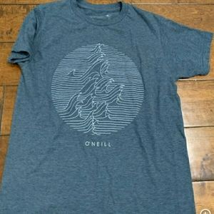 3/$30 O'NEILL wave surf ocean graphic tee SZ L